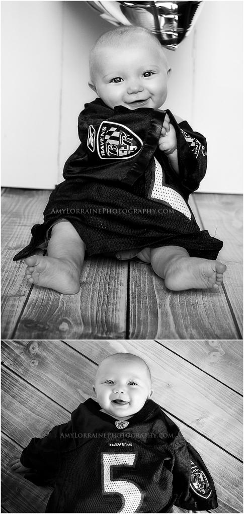 6 month Ravens Session | Amy Lorraine Photography