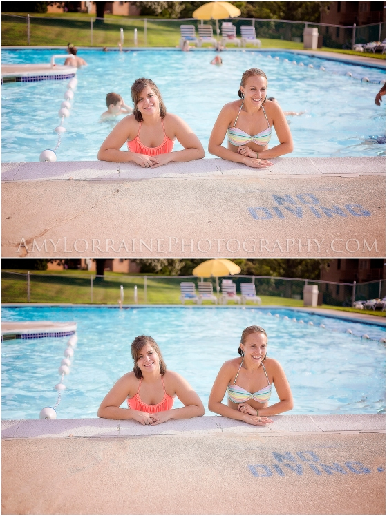 Before and After Photoshop   Pool Distractions   www.amylorrainephotography.com