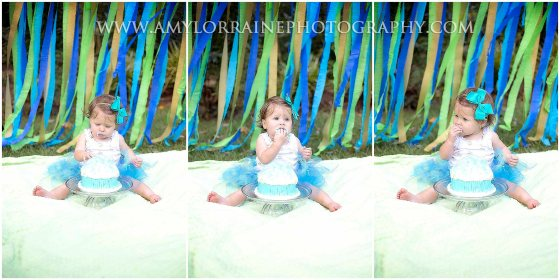 First Birthday Cake Smash | www.amylorrainephotography.com