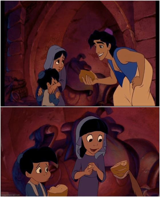 Aladdin Bread Scene