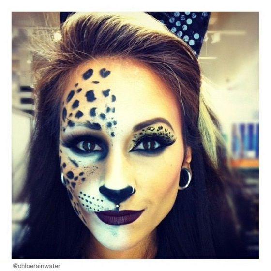 Makeup Monday | Halloween | Cheetah Leopard Print | Chloe Rainwater