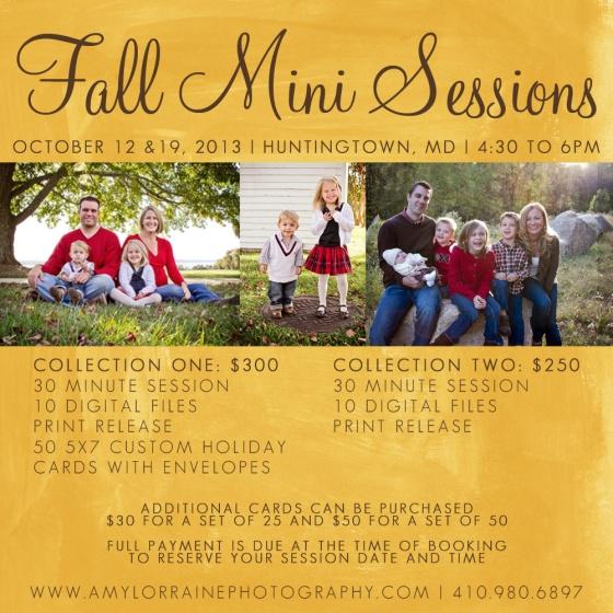 Fall Mini Session | Southern Maryland | www.amylorraineblog.com