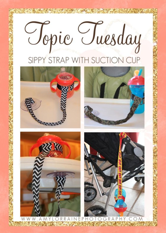 Topic Tuesday | Sippy Cup Strap with Suction Cup | www.AmyLorraineBlog.com