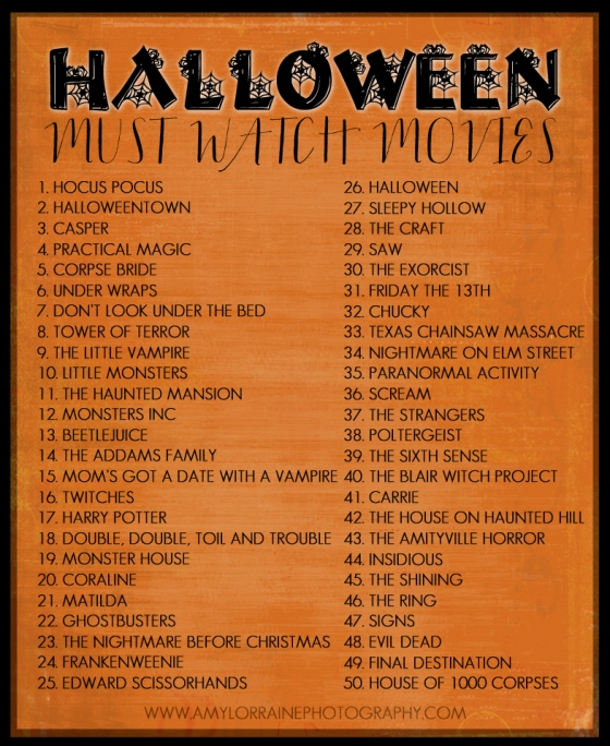 Must Watch Halloween Movies | www.amylorraineblog.com